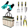 Hyggly Gardening Kit with Tools, Gloves, and Bag