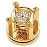 Horloge astrolabe de la collection Birks plaquée or