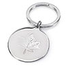 Birks Silver-Plated Keyring with Maple Leaf Image