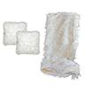 Millano Mongolia Throw and 2 Cushion Bundle - White